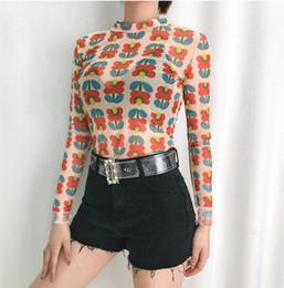 $enCountryForm.capitalKeyWord Australia - 2019 summer new leggings instagram south Korean web celebrity with the same flower print leggings T-shirt manufacturer