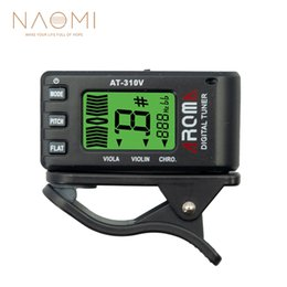ukulele accessories NZ - NAOMI Aroma AT-310V Tuner Digital Chromatic Violin Viola Tuner High Quality Guitar Parts Accessories New
