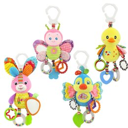 Wholesale Cute Animal Baby Bed Toy Rabbit Kids Stroller Bed Around Hanging Bell Rattle Activity Soft Baby Cartoon Plush Toy TTA1168