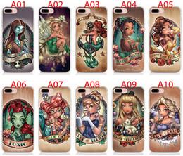 Tpu Print Australia - For iPhone XS XR XS Max X 8 7 6 Plus 5S case Hard PC and soft TPU High quality print pictures Cartoon Cute Girl Phone cases 10pcs lot