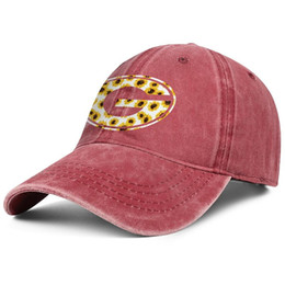 $enCountryForm.capitalKeyWord Australia - Georgia Bulldogs football sunflower logo red Womens Mens Denim hat washing dad cap styles fitted cool Twill Dad hats