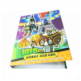 post cartoons Australia - Cartoon Anime Plants Vs. Zombies 160 Pcs Holder Album Toy Collection Cards Album Book Top For Kids Gift