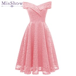 $enCountryForm.capitalKeyWord Australia - 2019 cheap short evening dresses Plus size Lace Pink Wine Red Party Formal Dress Homecoming Graduation Dresses Robe De
