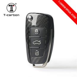 $enCountryForm.capitalKeyWord NZ - Wholesale Auto Parts Genuine Carbon Fiber Automatic Remote Control Key Case Protective Bracket Leather Applicable For Audi A3 8p A6 TT Q3