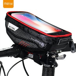 moto mobiles NZ - Meiyi Bike Phone Holder Universal Bike Mobile Support Stand Waterproof Bag For Iphone Xs Max xr x Gps Bicycle Moto Handlebar Bag T190625