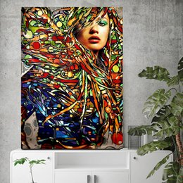 $enCountryForm.capitalKeyWord NZ - 1 Piece Modern Abstract Pot Art Wall Canvas Printed Painted Street Graffiti Art Painting The Mouth Lips Wall Painting Decor No Framed