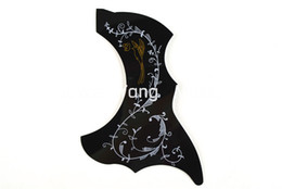 stick guitar UK - Alice Hummingbird 34inch Acoustic Guitar Pickguard Black Peel and Stick Adhesive Back R47mm Guitar Necessities Free Shipping Wholesales
