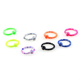 $enCountryForm.capitalKeyWord Australia - 8 Candy Colors Nose Hoop Eyebrow Ear Ring Piercing Stainless Steel Lip Bar Nose Studs Nipple Rings Woman Sexy Party Body Jewelry