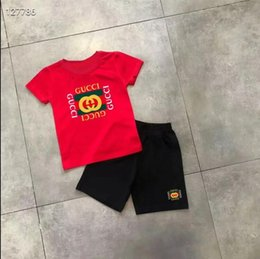 boy suit sports NZ - 2020 summer Brand kids clothes set boys sport suit children short-sleeve T-shirt+shorts pant girls clothing jogging tracksuit 4665