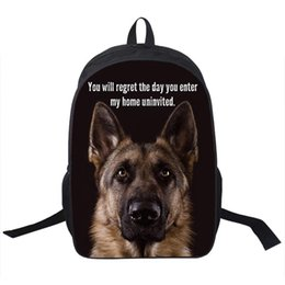 Wholesale Animal German Shepherd Pit Staffordshire Bull Terrier Rottweiler Backpack For Teenager Children School Bags Boy Dog Bag