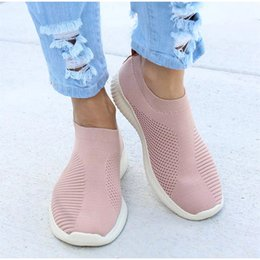$enCountryForm.capitalKeyWord Australia - Women Shoes Knitting Sock Shoes Sneakers Women Spring Summer Slip On Flat Flats Loafers Krasovki Famela Plus Size 43