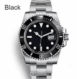 Discount self luminous watches - Top Ceramic Bezel Mens Mechanical Stainless Steel Automatic 2813 Movement Watches Self-wind Watch Luminous Wristwatches