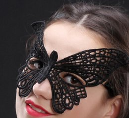half face masks masquerade ball NZ - 2019 Butterfly Ladies Sexy Lace Masquerade Mask for Carnival Halloween Masquerade Half Face Ball Party Masks