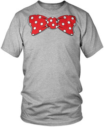 Polka Dotted Shirt For Men NZ - Custom Tee Shirts Printed O-Neck Short-Sleeve Oversized Bow Tie Funny Polka Dot Clown Bow Tie Men's T-Shirt Tee For Men