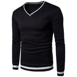 $enCountryForm.capitalKeyWord NZ - Casual Sweatshirts Men Fashion Style Hoodies V-Neck Thick Warm Winter Cotton Sweatshirt YA66