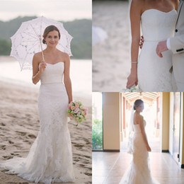 Zipper Empire Wedding Dresses Australia - Elegant Appliques Mermaid Wedding Dresses For Beach Destination Sleeveless Sweetheart Summer Bridal Gowns Beaded Sash Zipper Back Bride 2019