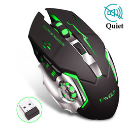 wireless keyboards for pc UK - ice Keyboards Mouse Rechargeable Wireless Gaming Mouse 7 color Backlight Breathing Comfort Gamer Mice for Computer Desktop Laptop PC for ...