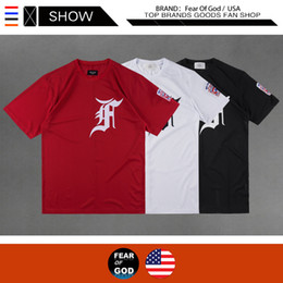 black fashion uniforms NZ - 2020 designer tide logo embroidery mesh baseball uniform FEAR OF GOD T-shirt FOG COLLECTION 2 fashion Europe and America wholesale
