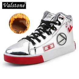 Valstone Men s Silver hip-hop shoes high-top sneakers Golden street shoes  hot sale skateboard spring winter item optional 2243b4a2ed37