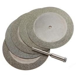 Toptan satış Frshpping5pcs 50mm Elmas Kesme Diskleri Matkap Ucu Döner Aracı Cam Metal Için
