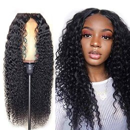 $enCountryForm.capitalKeyWord Australia - Lace Frontal Wig Deep Part 250% Brazilian Lace Front Human Hair Closure Wigs Water Wave for Black Women,14inches,250 Density