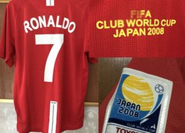 Japan badges online shopping - 2008 Retro Japan Club World Cup Final Ronaldo Rooney With Final match details soccer patch Badge