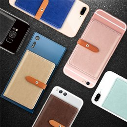 Universal Smartphone Wallet Australia - Card Pocket Holder Luxury PU Leather Wallet Cellphone Case For Iphone X Xs Xr Samsung Huawei Xiaomi Smartphone
