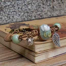 Lotus porceLain online shopping - Ceramic Bracelet Hand made Stone Closure Flower Bracelet Lotus Ornament Small Fresh Bracelet Female Jewelry