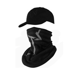 black dog face mask 2021 - New 2 Pieces set Watch Dogs Mask Cap Cotton Hat Set Costume Cosplay Aiden Pearce Face Mask Hat Mens 6 Panel Tactique Baseball Caps