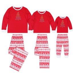 $enCountryForm.capitalKeyWord Australia - 4 Sizes New Fall and Winter Housewear Christmas Tree Elk Words Printed Parent-Child Suit Family Wear Sleepcoat Pajamas YY0064
