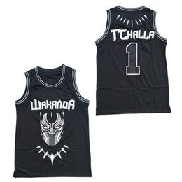 xxl free movies 2019 - #2 Erik Killmonger The Black Movie Wakanda T'Challa Jersey Black Stitched Basketball Jerseys Men Top Quality Free S
