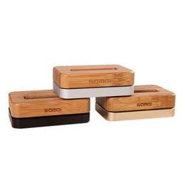 $enCountryForm.capitalKeyWord UK - SZAICHGSI 1pcs Bamboo Metal Mobile Phone Stand Charging Holder Dock Mount for iPhone 6 5S 5C 4S
