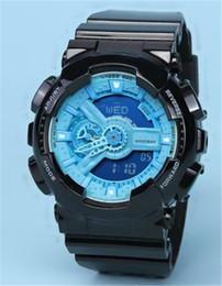 $enCountryForm.capitalKeyWord Australia - Shock Waterproof Men's Sport Wrist Watches Rubber Strap Digital Dual Time Sports Watches 2019 Chronograph Waterproof G Style watch Wholesale