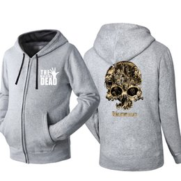 $enCountryForm.capitalKeyWord Australia - Spring Autumn Cardigan Men Hoodies Popular Hip Hop Jacket Walking dead Fashion Casual Sweatshirt Sportswear Zipper Coats