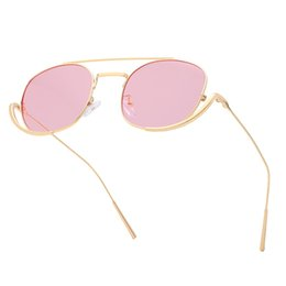 $enCountryForm.capitalKeyWord UK - 2019 top quality hexagon metal sunglasses ladies irregular personality gold frame green pink gray HD sunglasses round gold frame sunglasses