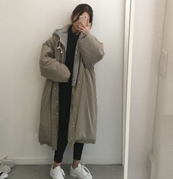 Womens Parkas Australia - 2018 Winter Womens Parka Winter Hooded Fashion Warm Jacket Coat Big Size Long Parkas Green Cotton Thicken Coat