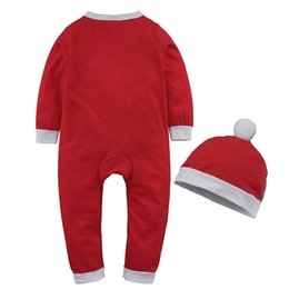 cute toddler pajamas NZ - 2020 new children's Christmas pajamas fashion newborn baby cute jumpsuit toddlers sleepers baby sleepwear girl baby boy pajamas
