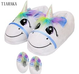 $enCountryForm.capitalKeyWord Australia - unicorn slippers indoor winter animal embroidered plush licorne slipper for women furry fur unisex shoes house home with faux
