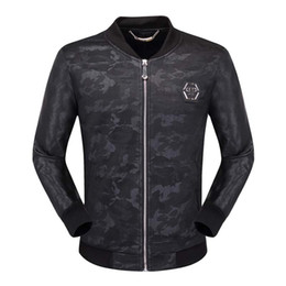 Locomotive genuine Leather coat online shopping - Men Locomotive Coat Leisure Leather Jackets Zipper Casual Winter Fashion Top Jacket Animal Embroidery Outerwear Men s Clothing