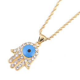 Evil Eye Pendants Turkey Australia - Bule Eye Necklace for Women Turkey Evil Eyes Charm Pendant Jewelry Gifts Hand of Fatima Hamsa Hand