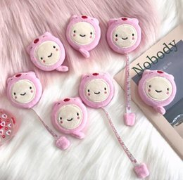 Wholesale Tape measure pink cute pig plush mini leather m soft ruler measure three rounds with double sided clothes small tape measure