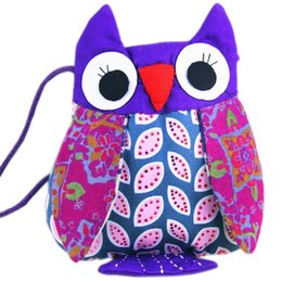 Fabric Bag Owl Australia - Vintage Women Ethnic Owl Cotton Fabric Shoulder Bag Handmade Messenger Bags Cute Small Handbag Fa1