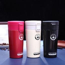 Thermo waTer boTTle vacuum online shopping - 380ML Mug Coffee Cup Stainless Steel Vacuum Flasks Thermoses My Water bottle Insulated Thermo cup Travel Car Mugs KKA7151