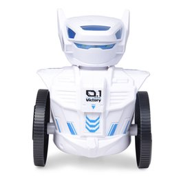 Smart Robots Toys 2.4G Guarda RC Robot Dacing Singing Robot con Cool LED Model Toy per bambini Bambini Regalo di compleanno Kit da gioco