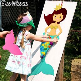 $enCountryForm.capitalKeyWord NZ - Ourwarm Felt Diy Craft Mermaid Themed Birthday Party Supplies Handmade Diy Birthday Gift Toy For Kids Mermaid Party Decorations J190706