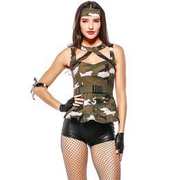 $enCountryForm.capitalKeyWord Australia - Halloween Costume Women Instructor Camouflage Cosplay Suit Female Agent Cosplay Sex Suit