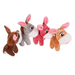 doll fun Canada - Kids Cute Little Donkey Pendant Little Donkey Keychain Fun Plush Doll Children Toy Stuffed Animal Plush Toy For Children Fun toy