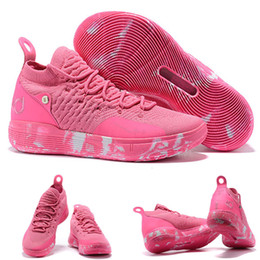 mens kd aunt pearl NZ - 2019 New Hot Kevin Durant KD 11 Mens Basketball Shoes Sneakers Sports Aunt Pearl 40-46