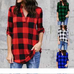 $enCountryForm.capitalKeyWord Australia - Fashion Plaid tshirt Plus Size XXXXL 5XL Summer T Shirt Women Clothes Tunic Camisetas Mujer Tops Casual Grid T-Shirt Top Tee
