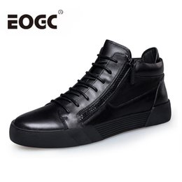 $enCountryForm.capitalKeyWord NZ - Retro Style Men Shoes 2019 Genuine Leather casual shoes Lace-up black for Men's Ankle Boots keep warm winter boots